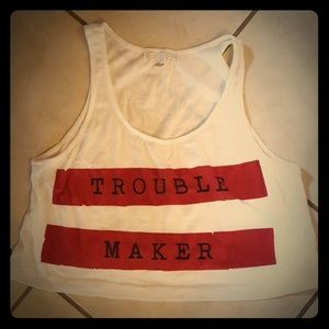 "Cropped Tank ""Trouble Maker"""